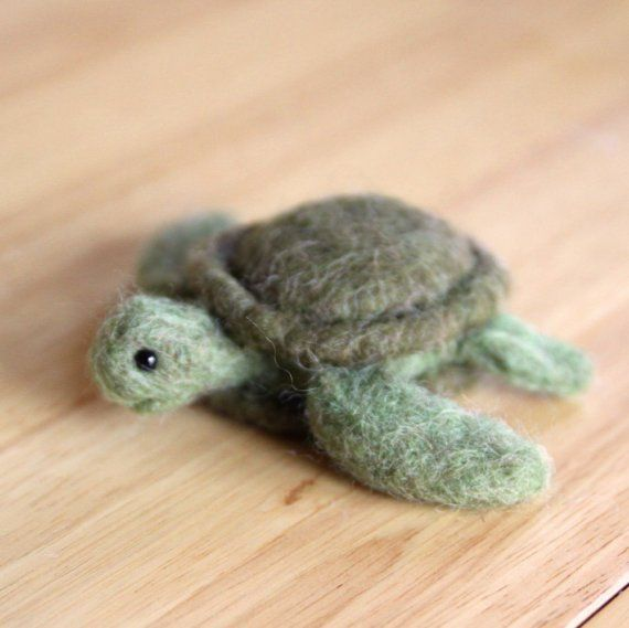Needle Felted Animal - Turtle (requested by beth619) #needlefeltedanimals