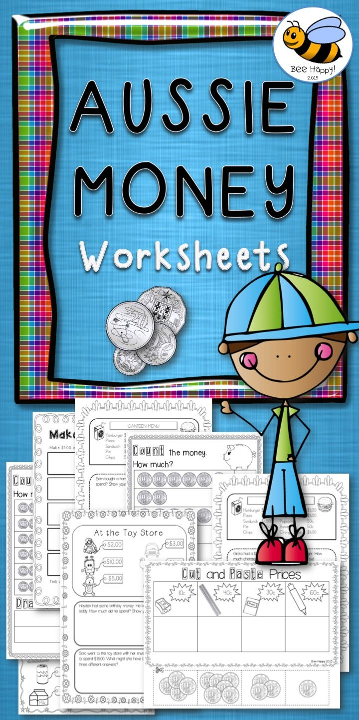 Australian Money Worksheets Year 1/2 | Differentiation, 30th and Maths
