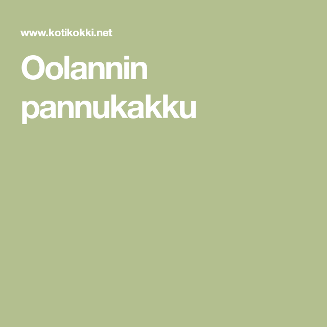 Oolannin Pannukakku Resepti Kotikokki Net Recipe Incoming Call Screenshot Incoming Call