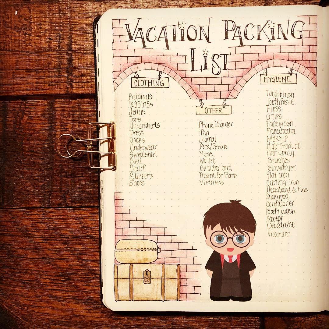 17 Harry Potter Bullet Journal Spreads That Are Magical Thefab20s Harry Potter Journal Bullet Journal Ideen Diy Geburtstagsgeschenk
