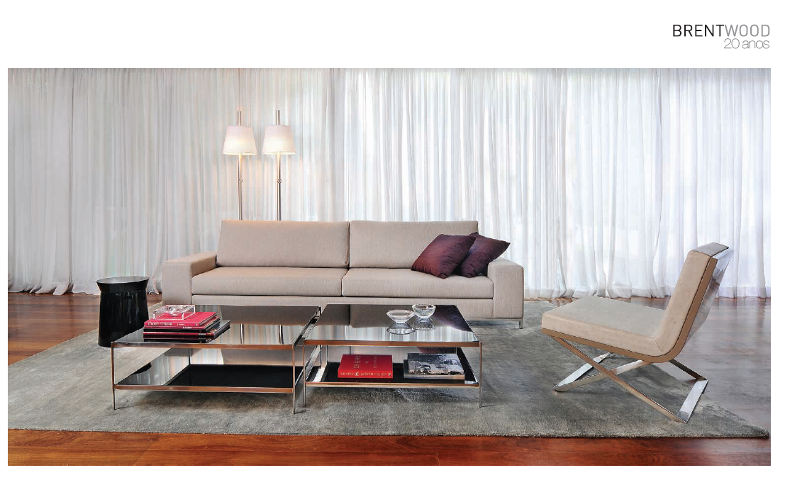 Folder 2014: Sofá Bilbao (designer: Studio BW), Banco Dama (designer: Studio BW), Mesa de Centro Vintage (designer: Estudio Nada se Leva) e Poltrona Kalup (designer: Graça Kazan e Louis Mario).