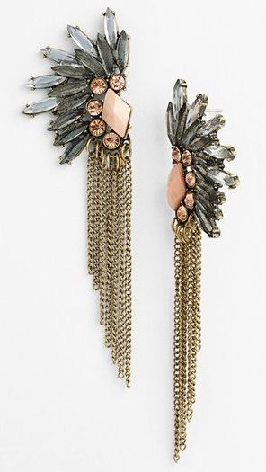 These earrings remind me of a feathered headdress