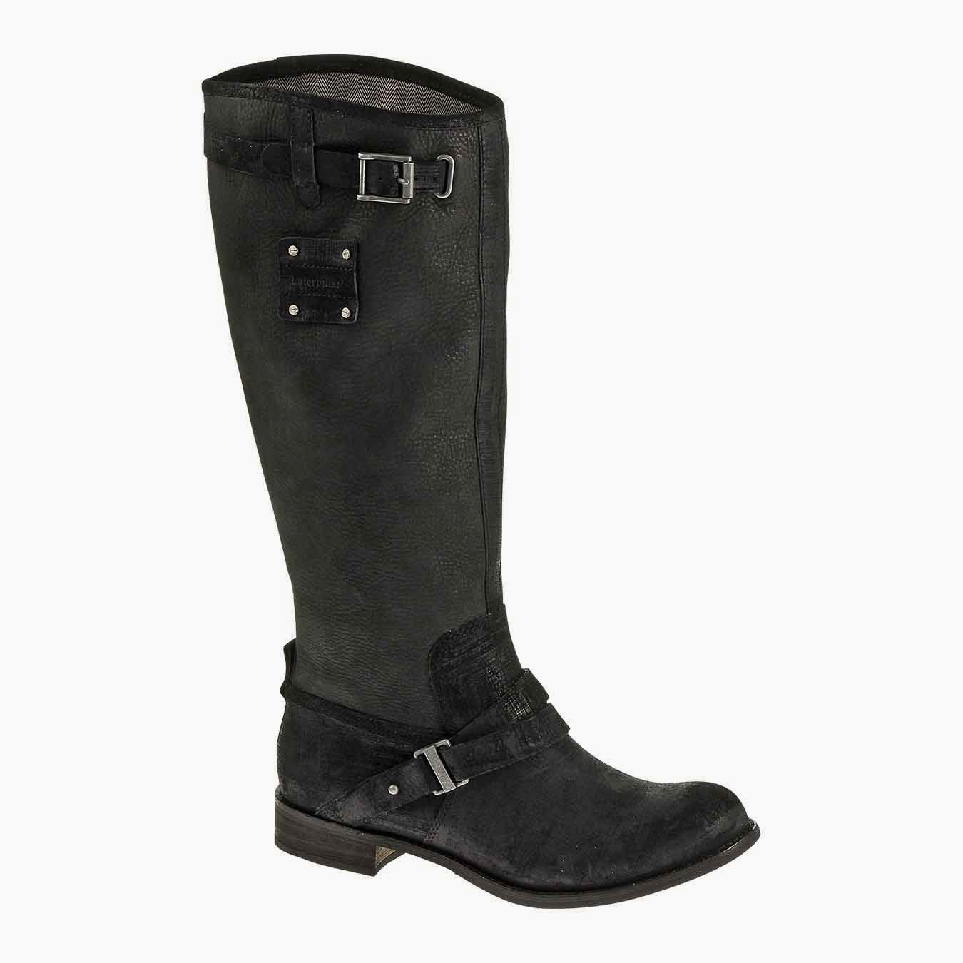 #CatFootwear Women's Corrine in Black, $200, #ridingboot #AW14