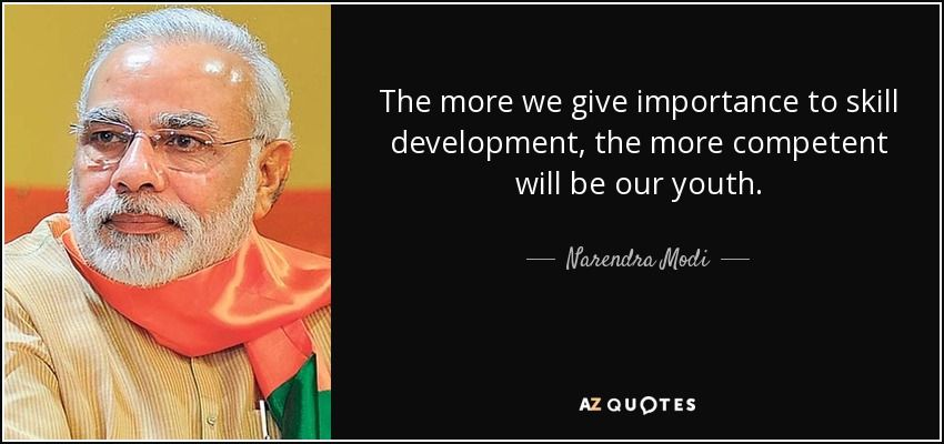 an inspiring quote by prime minister narendra modi