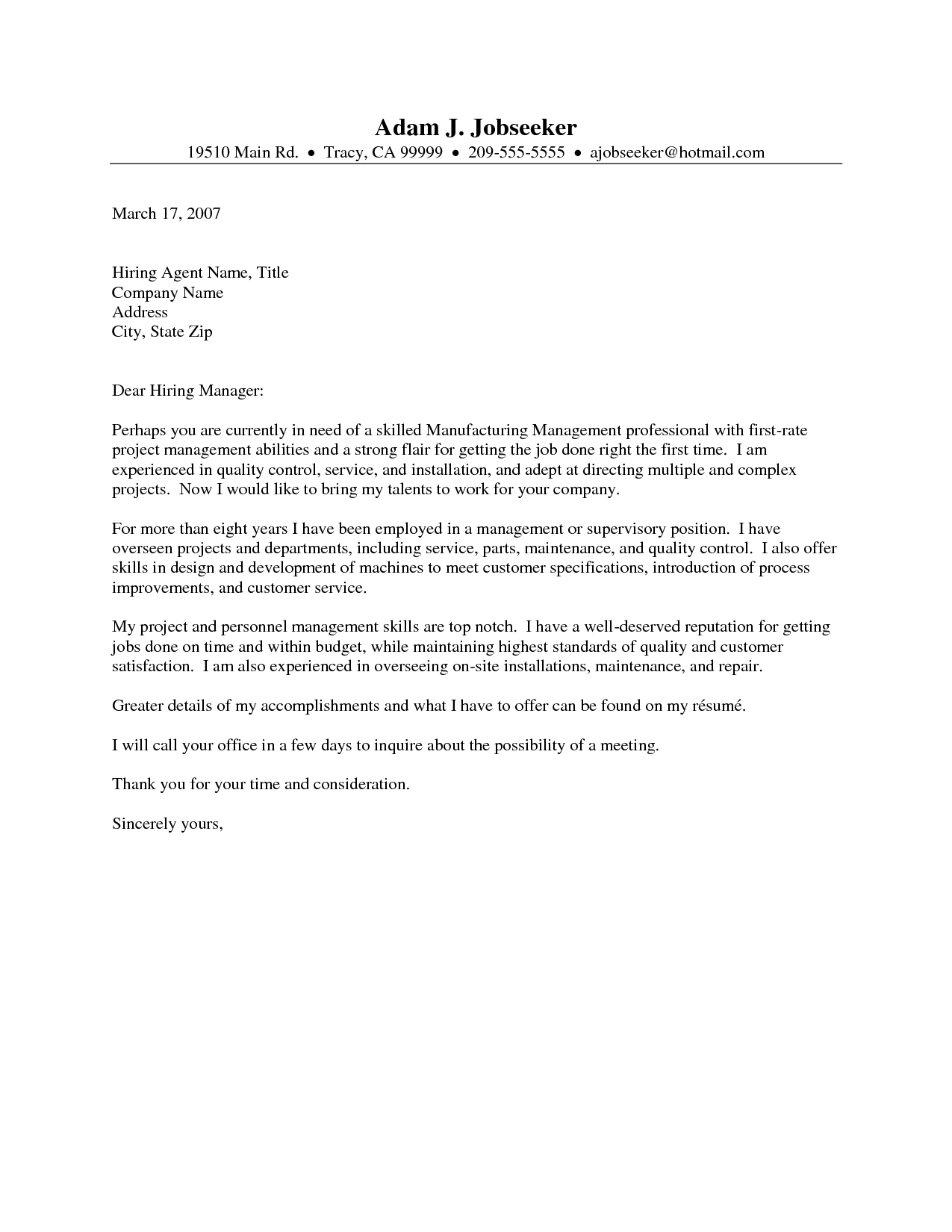 Medical Cover Letter Project Scope Template   Administrative ...