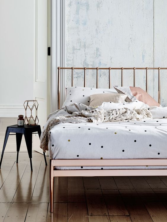 Copper Bed And Bedroom Interiors Inspiration Wow