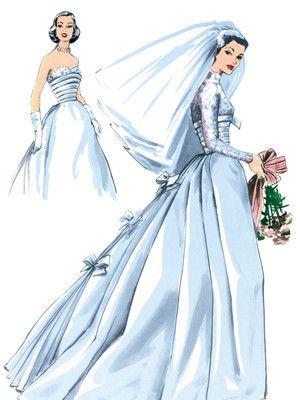 Wedding Dress - Vintage  -sewing pattern to buy from burdastyle.de