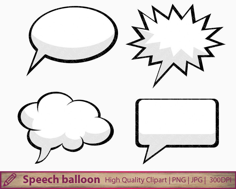 Comic Book Talk Bubble Png Anime Speech Balloon Png Clipart Etsy Clip Art Thought Bubbles Comic Balloon