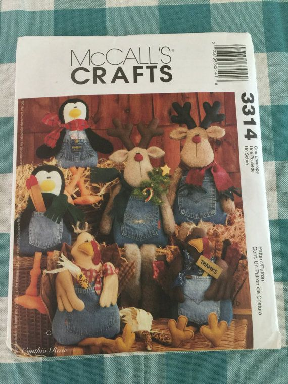 60 McCalls Crafts Blue Jean Buddies Penguin Turkey And Reindeer Extraordinary Mccalls Craft Patterns