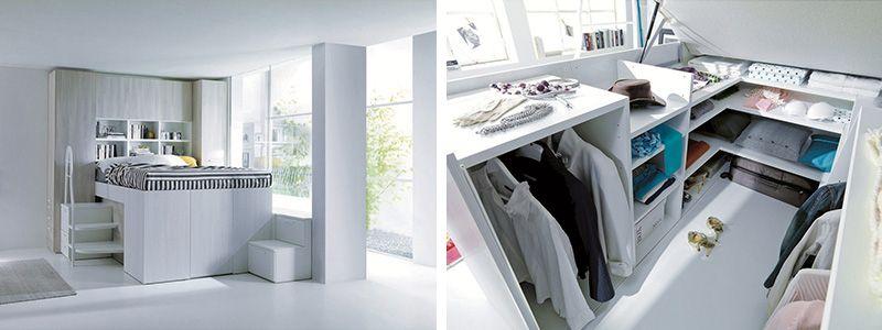 Letto a soppalco: idee per recuperare spazio in camera da letto ...