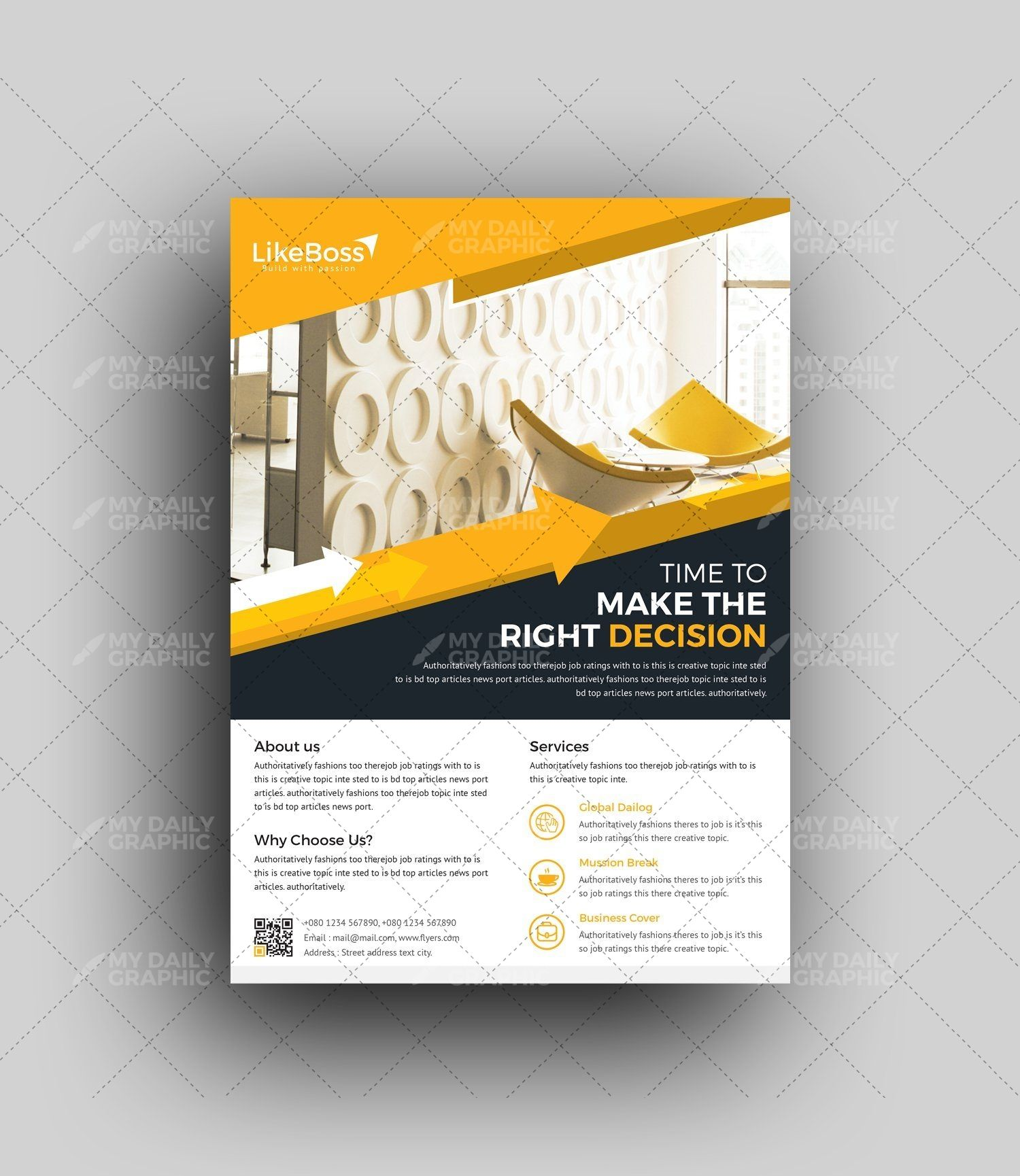 Interior Design Business Flyer Template With Images Pamphlet
