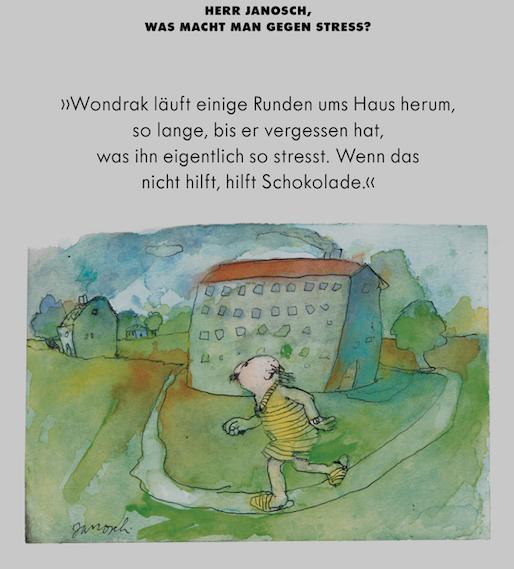 Herr #Janosch, was macht man gegen Stress?