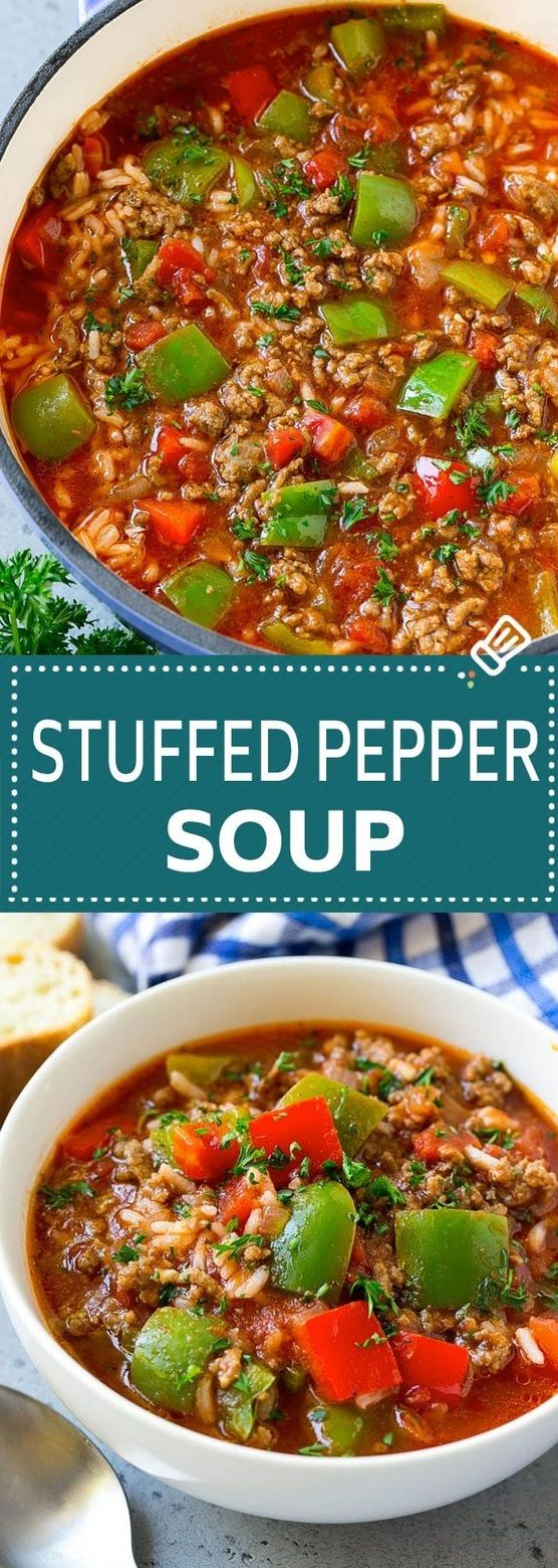Stuffed Pepper Soup Soup Souprecipes Stuffedpeppersoup Quotes Recipes Healthy Soup Recipes Stuffed Pepper Soup Stuffed Peppers