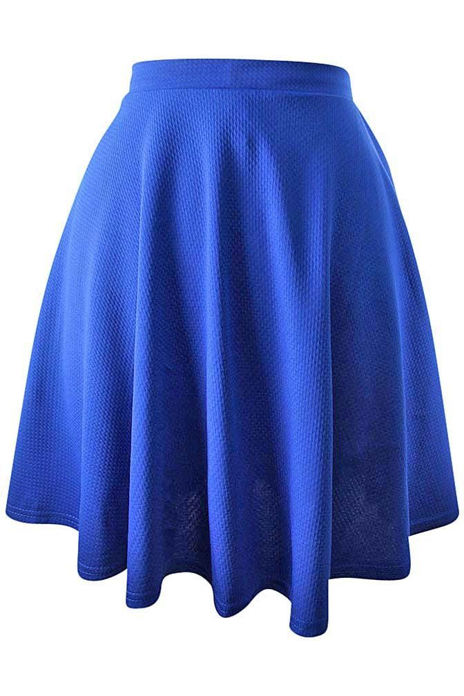 cb448bbbe7 Short Flared Skater Skirt | Women clothing | Blue skater skirt ...