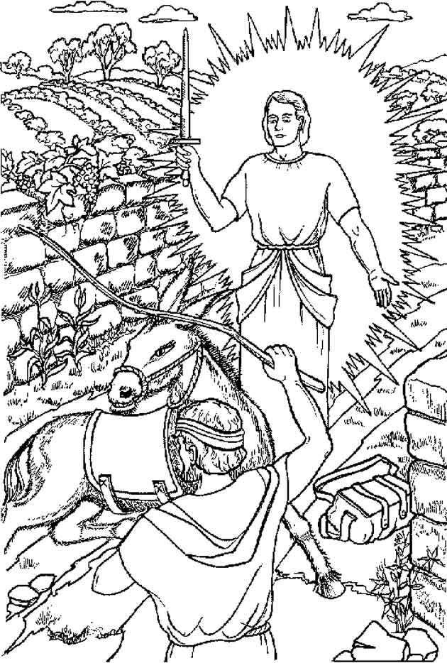 Balaam And His Donkey Coloring Page Coloring Pages Bible