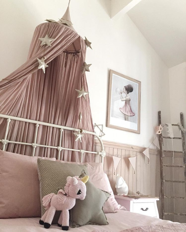 Whimsical Kids Room: Dusty Pink Whimsical Girls Bedroom By @mamabirdlife