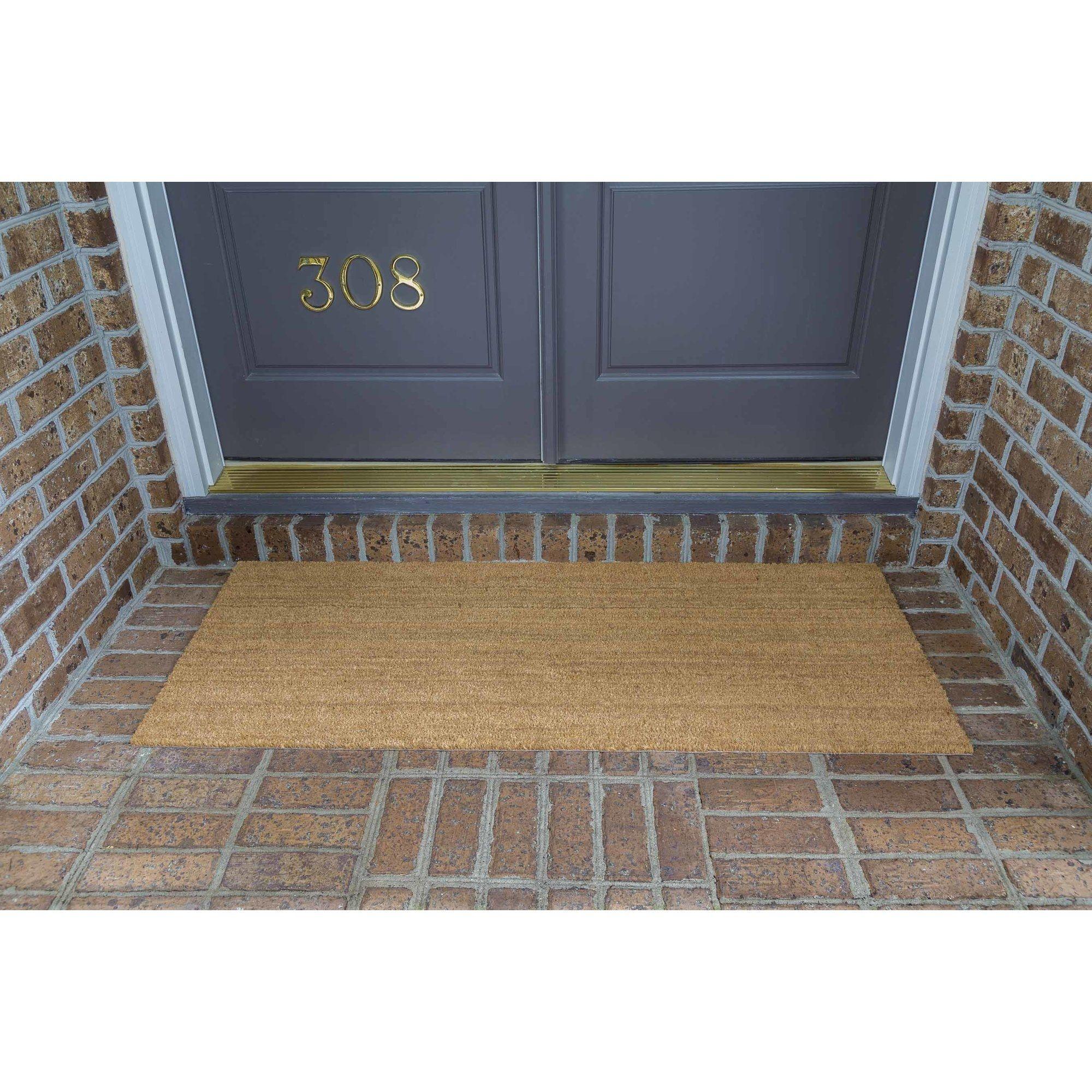 Double Door Outdoor Welcome Mat
