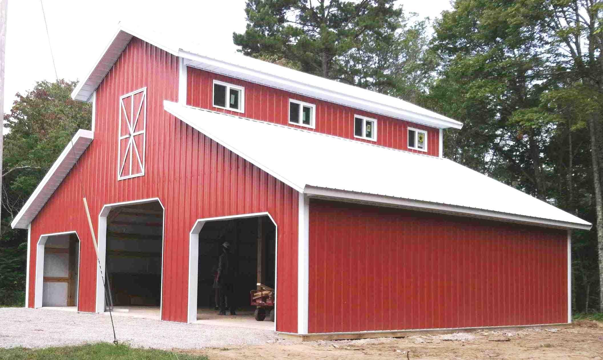 42x40 Monitor Style Garage Pole Barn Homes Barn Plans Monitor Barn