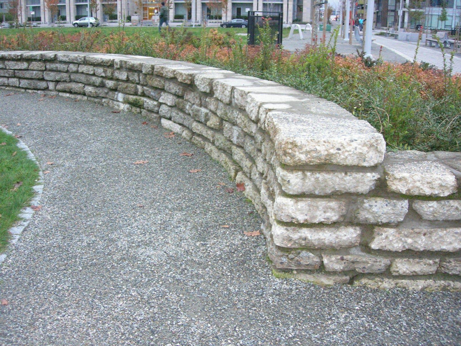 Urbanite Wall Concrete Retaining Walls Recycled Concrete School Playground Design