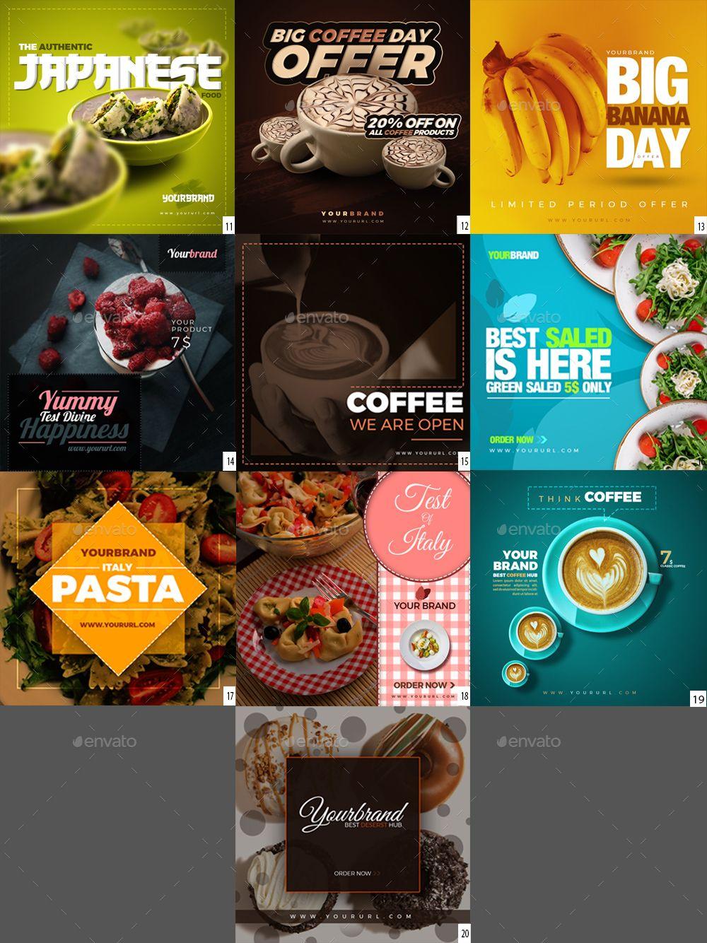 50 food instagram banners by graycells graphic  lasagna lokeka ipadila adobe.php #7