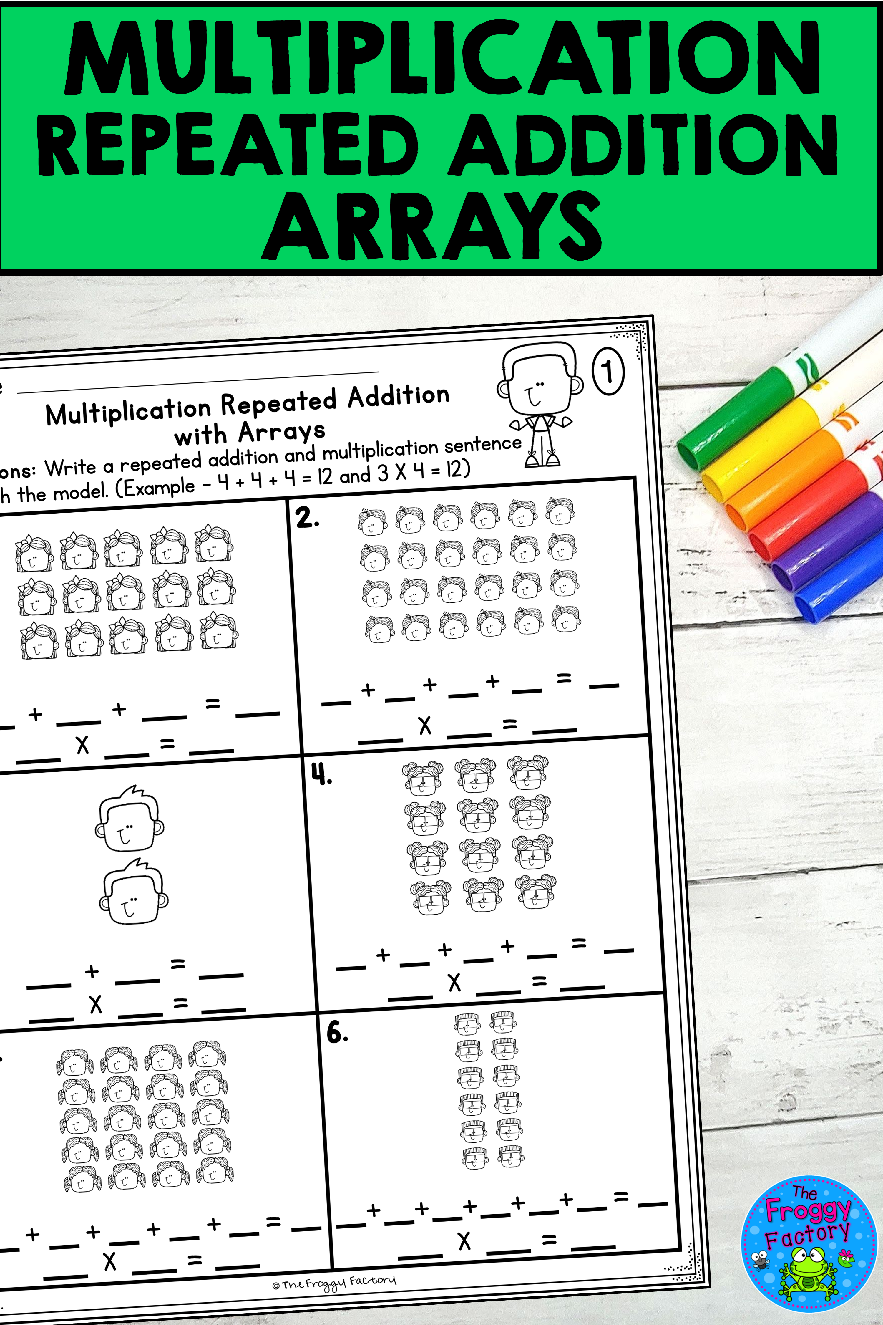 Multiplication Repeated Addition Arrays Worksheets