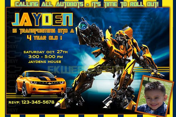 Transformers Birthday Invitations Ideas For Frey Transformer Birthday Transformers Bumblebee Transformers