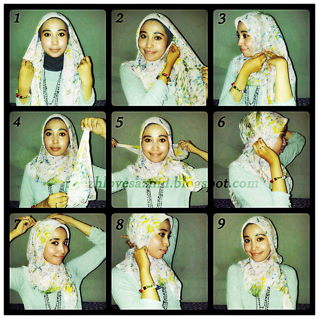 Suri Aryani Hijab Tutorials Pinterest Hijab Styles And Shawl