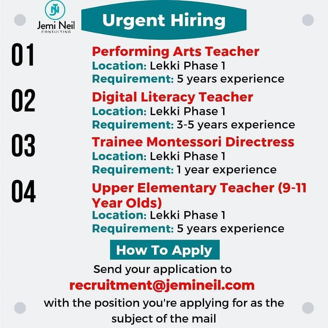 Interested & qualified candidates should send their