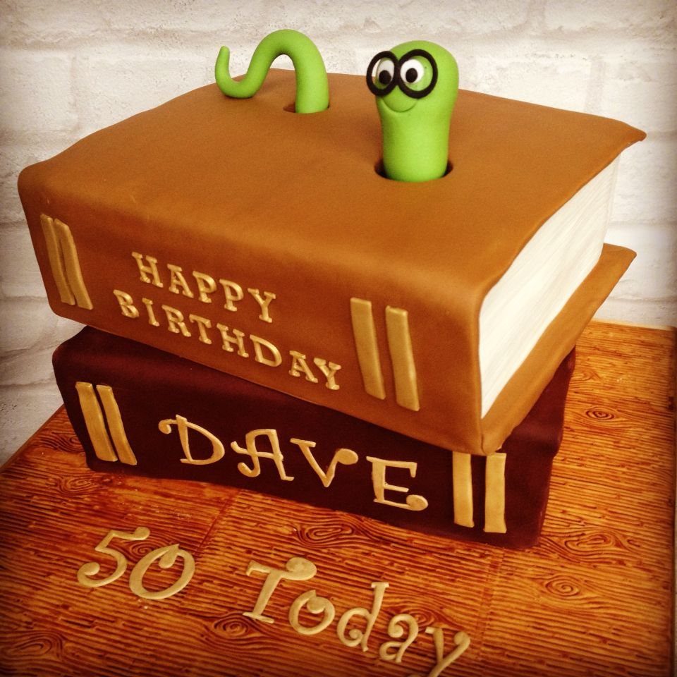 Bookworm Cake Book Cakes Tiered Cakes Birthday Book Cake