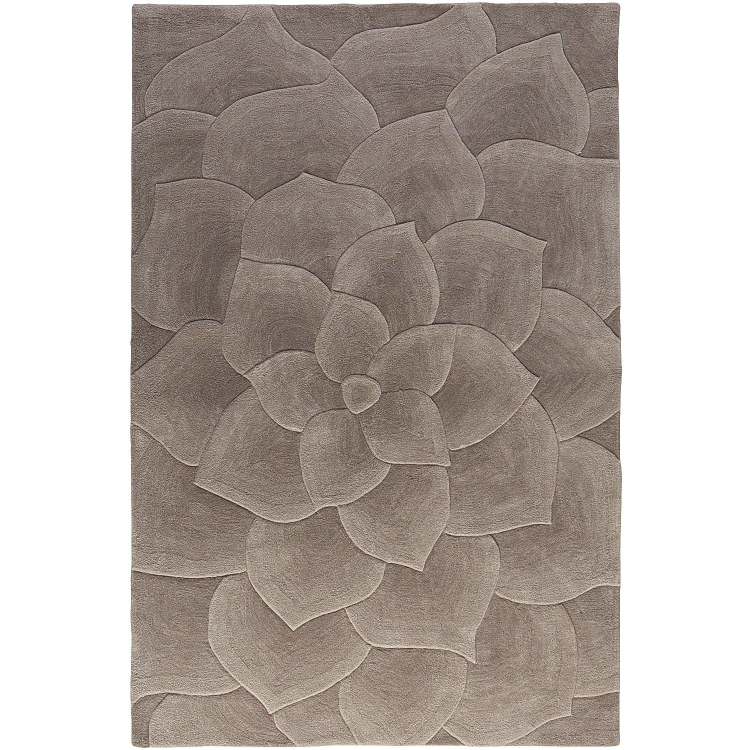 Rose Tufted Gray 2x3 Rug