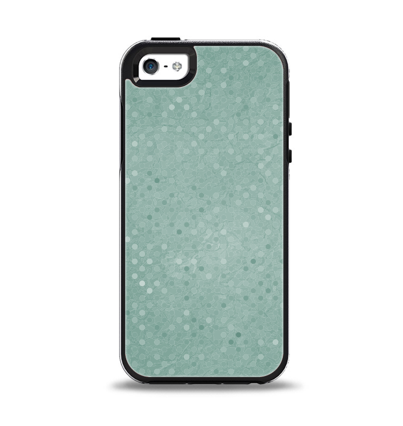 The Small Green Polkadotted Surface Apple iPhone 5-5s Otterbox Symmetry Case Skin Set