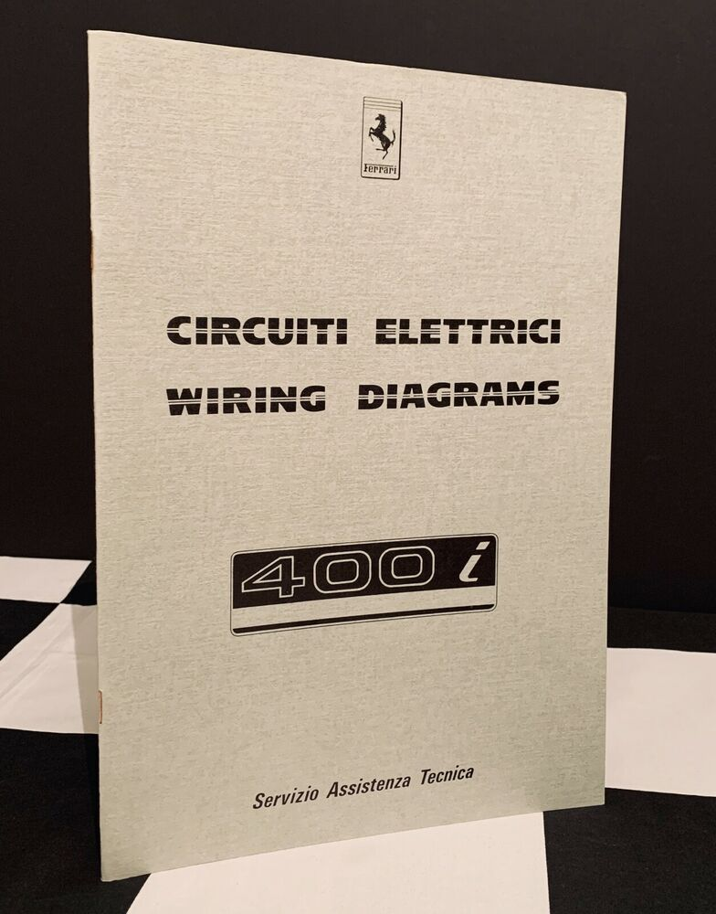 Details About 1983 Ferrari 400 I Wiring Diagrams Circuiti Electric Owners Manual Brochure 400i In 2020 Brochure Ferrari Owners Manuals