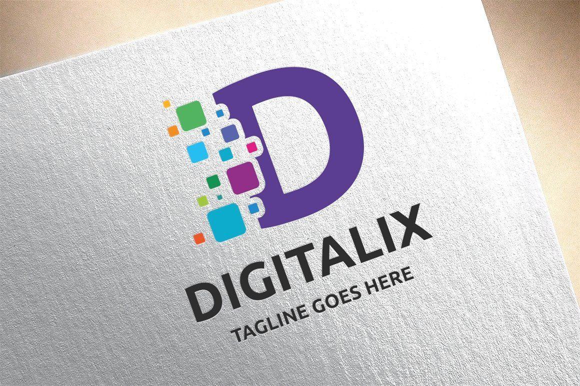 Letter D - Digitalix Logo | Lettering, Logo design ...