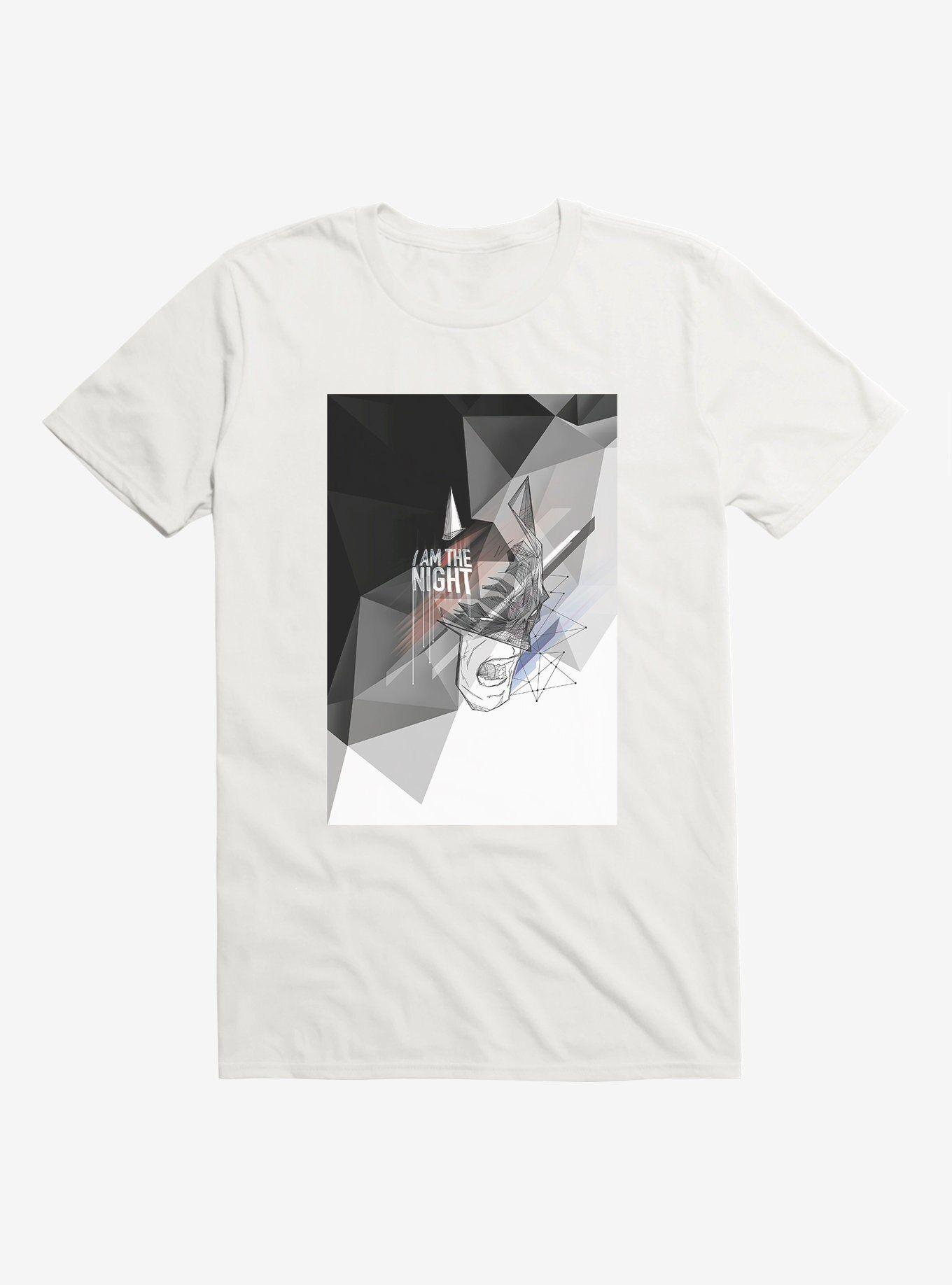 - DC Comics Batman I Am The Night T-Shirt, WHITE  , Long Sleeve, Sweatshirt, Hoodie