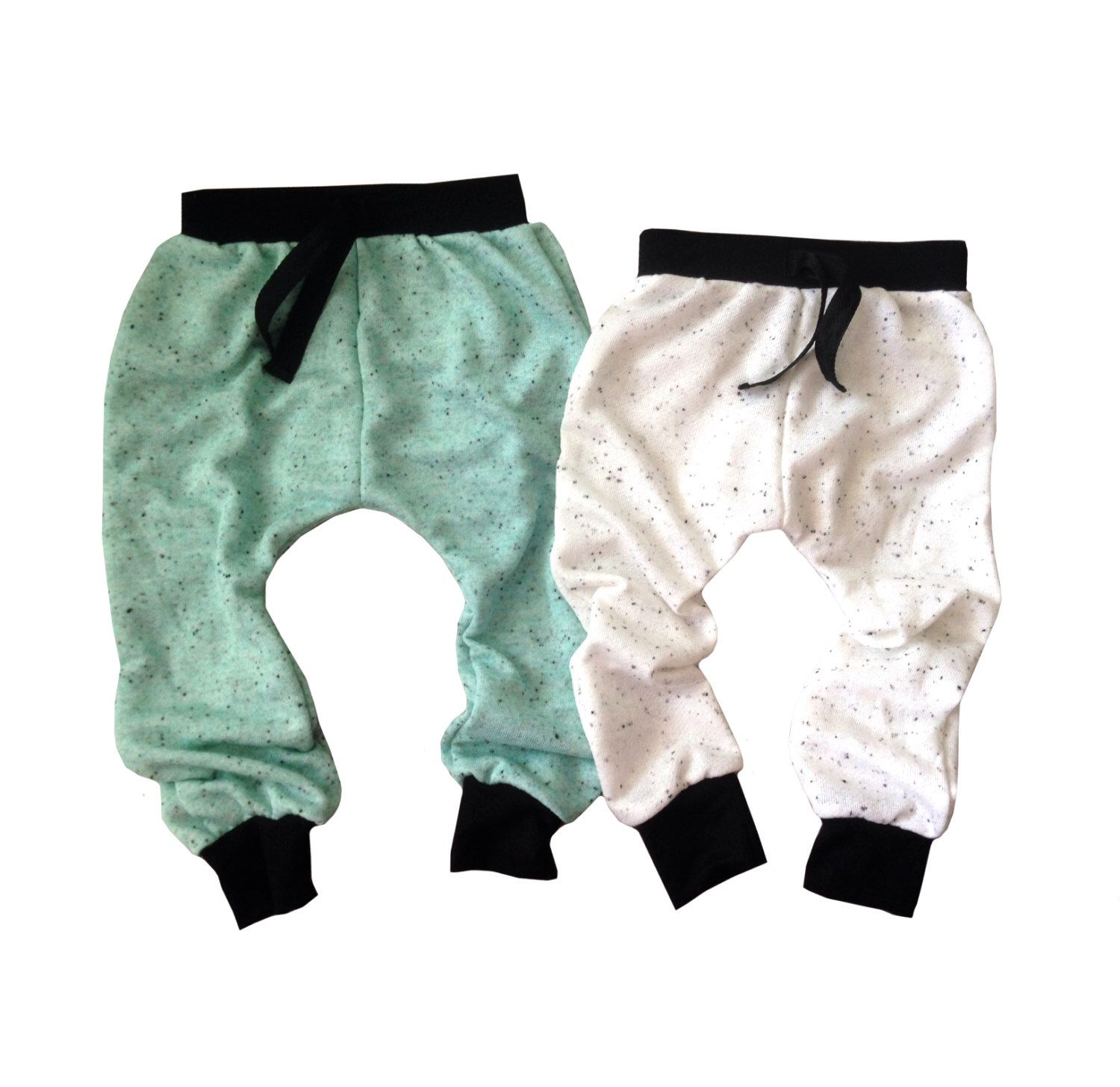A personal favorite from my Etsy shop https://www.etsy.com/listing/236243407/baby-joggers-mint-or-white-baby-pants