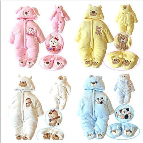 acc2d205258d Children Winter Coat Baby Jumpsuits Warm Outwear Jacket Newborn ...