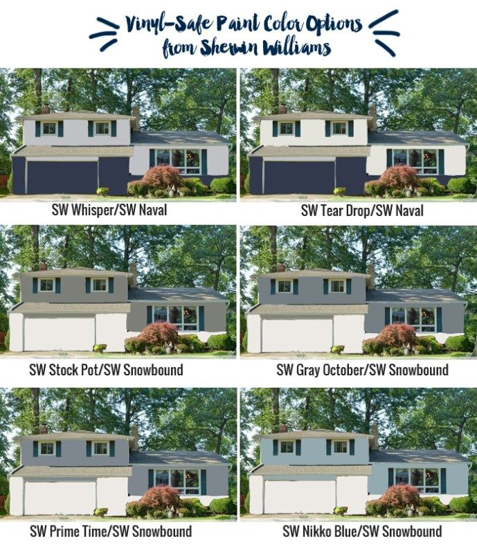 Vinyl siding-safe exterior paint color options from Sherwin