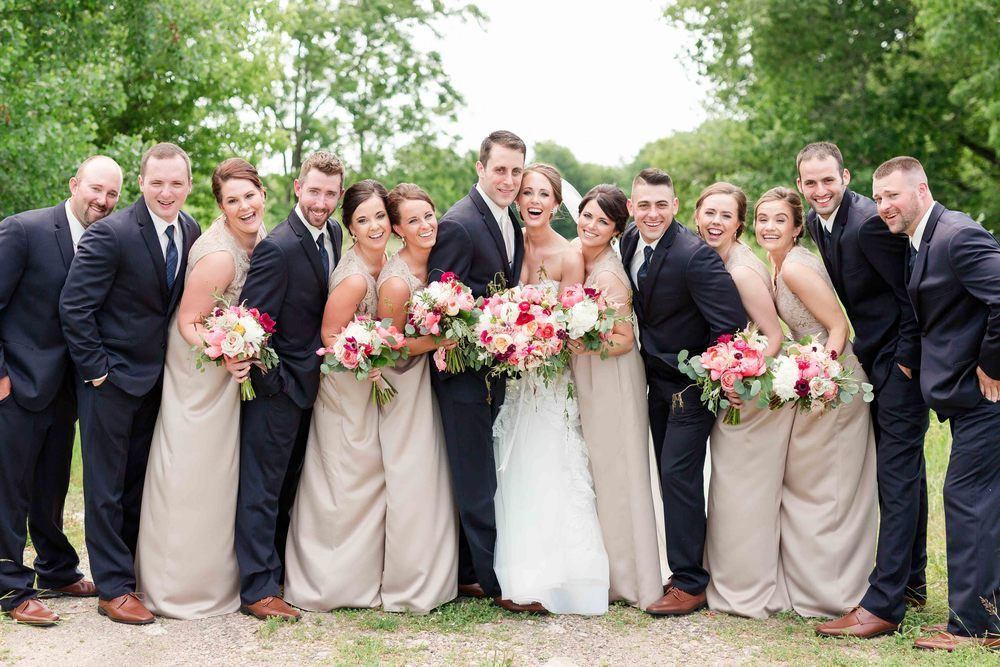 f2025520a42 Navy and taupe bridal party