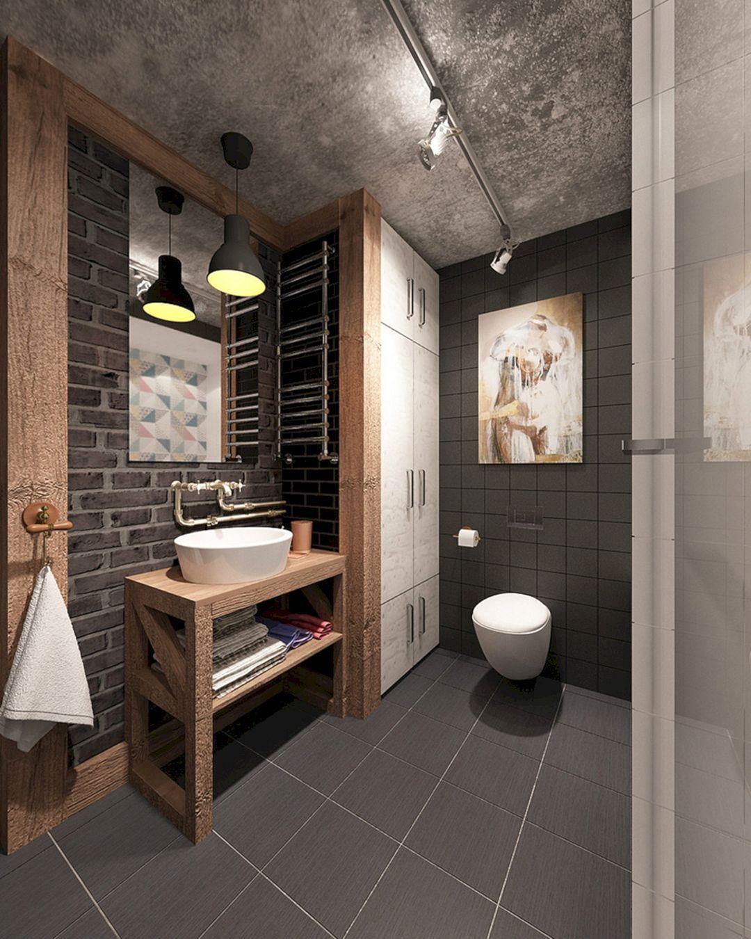 Industrial Small Bathroom Design 9 Industrial Small Bathroom Design 9 Design Ideas And Photos Industrial Bathroom Decor Industrial Bathroom Design Industrial Style Bathroom