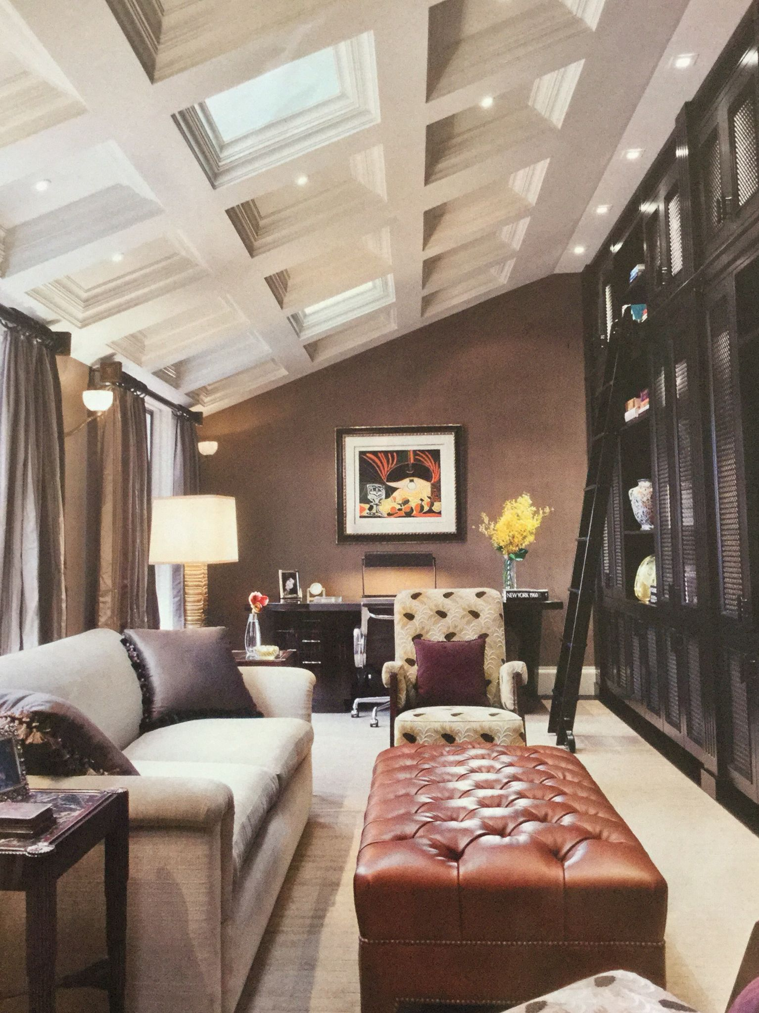 10 Stunning Sloped Ceiling Living Room