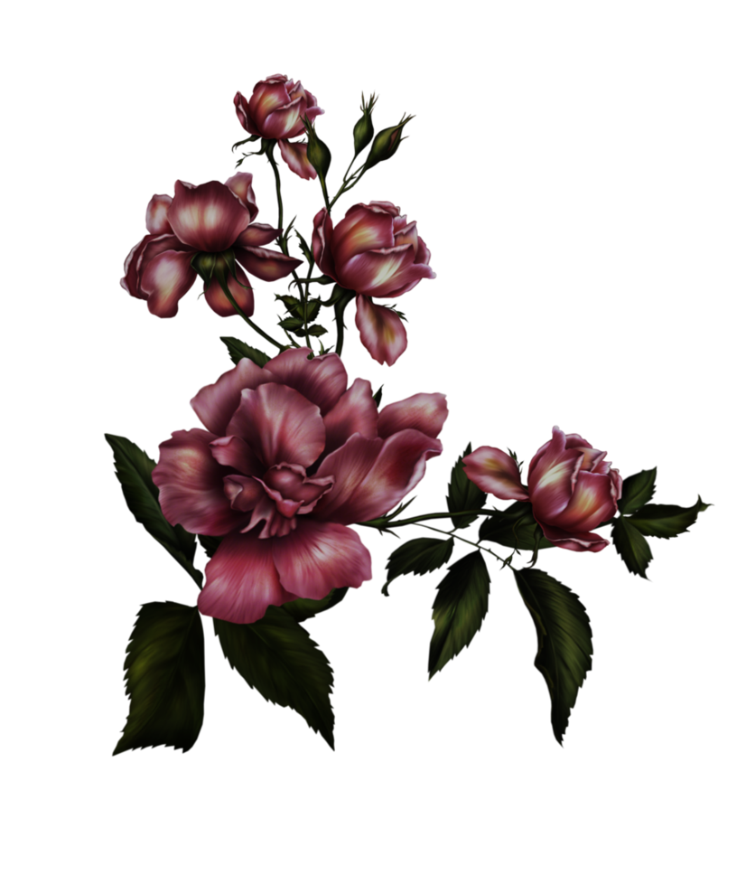 gothic flower by collect