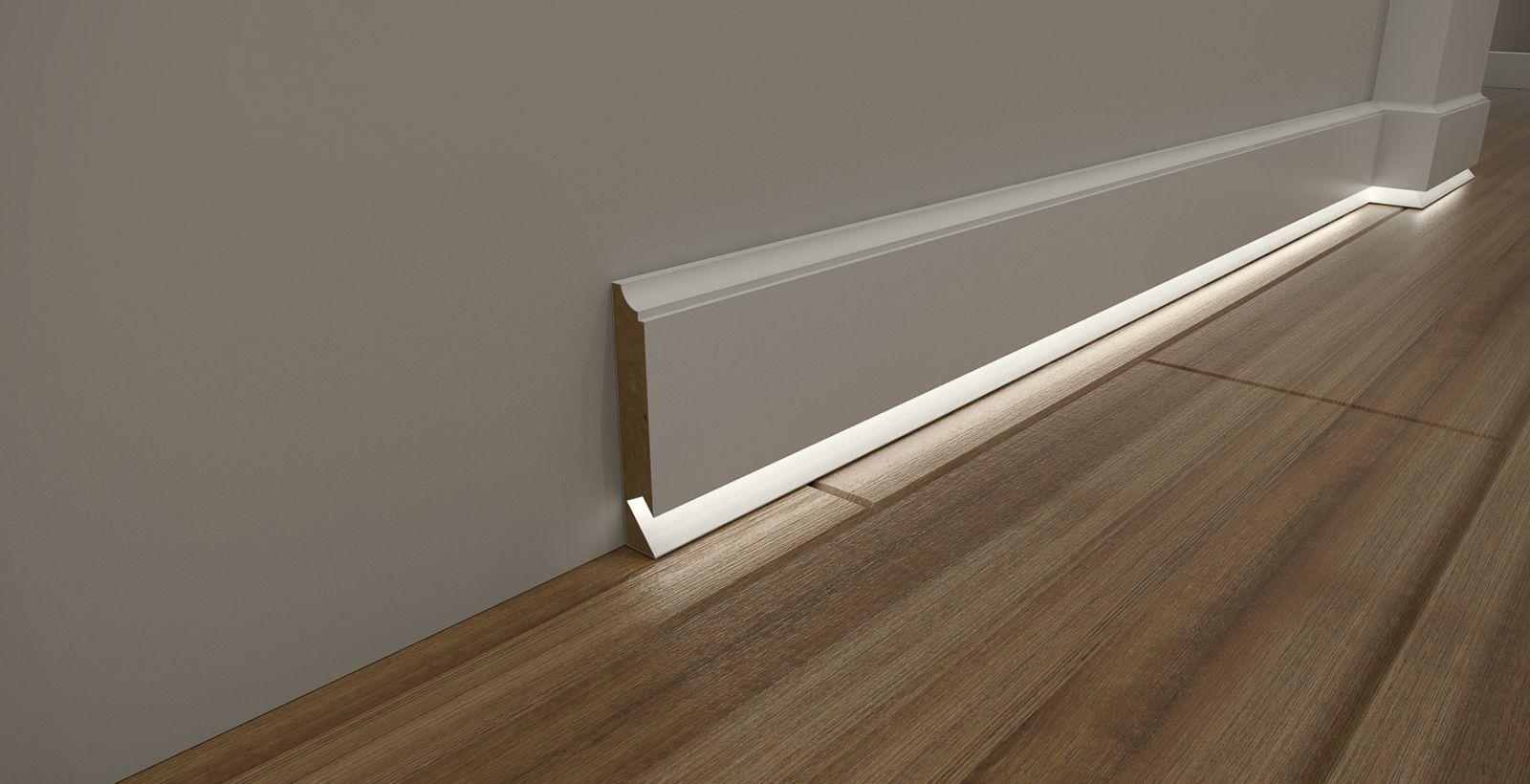 Cokoly Przypodlogowe Led Listwy Wykonczeniowe Mdf Biale Modernlightingdesign Sklep Interne Home Lighting Design Lighting Design Interior Ceiling Light Design
