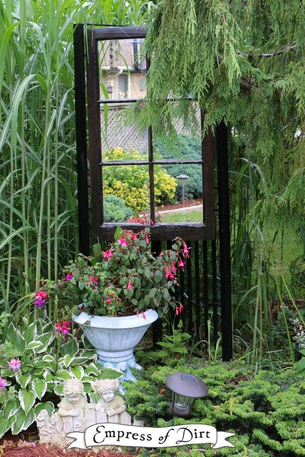 Doors & Windows in the Garden is part of Black garden Decking - Give old doors and windows a new life by turning them into structures and art in the garden