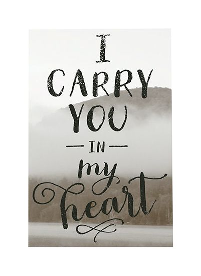 Art Prints I Carry You In My Heart By Bwise Papers Mintedcom