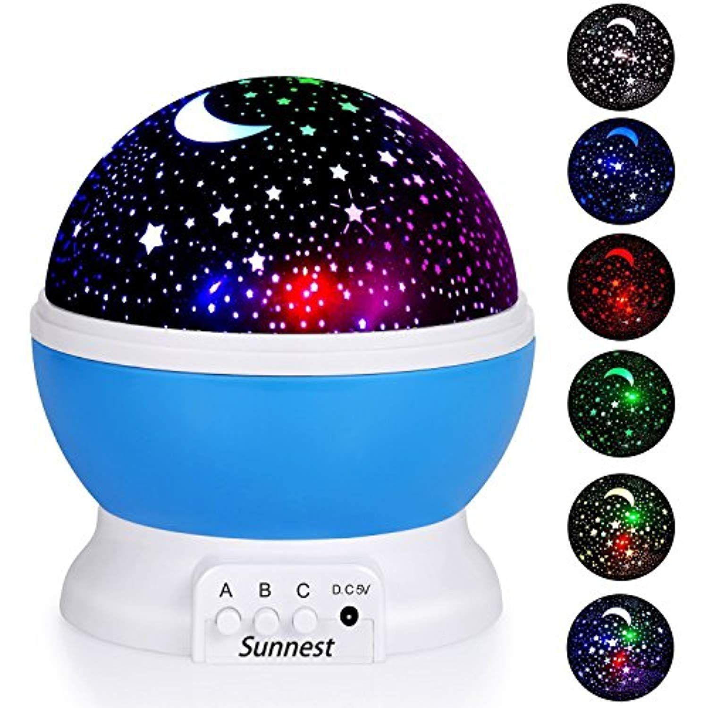 LED Night Lighting Lamp Star Projector Rotating Light for Baby Kids Bedroom