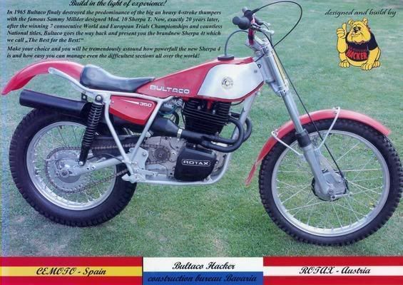 Bultaco Sherpa 4T 350 con motor Rotax | Observed Trials