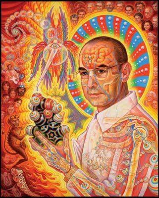 Shiiiiiiiiiit. Alex Grey painting one of my most favorite humans of Earthly history, Dr.Hoffman!