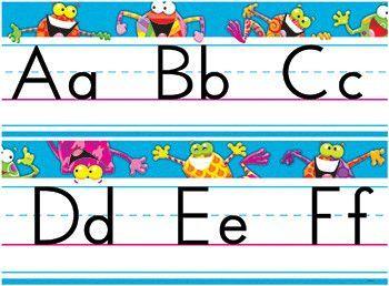Frog Tastic Alphabet Line Standard Manuscript Letter
