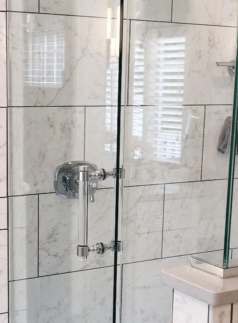 Lucite Shower Door Handles Polished Brass Satin Brass Shower Door Pulls Bathroom Accessories Lucite Bathroom Luxholdups Shower Door Handles Shower Doors Shower Door Hardware