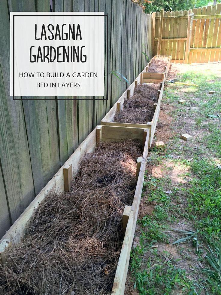 Lasagna gardening layering a raised garden bed diy - Best mulch for raised bed vegetable garden ...